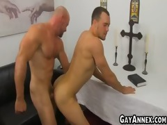 sexy dude riding ripped guys pecker
