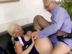 young brit stewardess pussyfucked by sir
