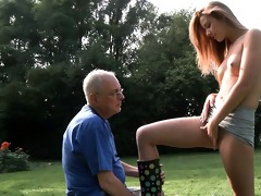 grandpa cleans and fuck alexis\s hairless wet