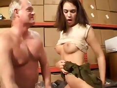 old fellow fuck youthful brunette girl