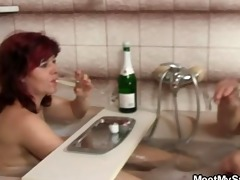 old mom and bigcocked dad are pleased by sons gf