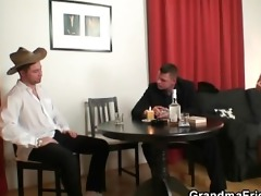 poker-playing granny acquires fucked by guys