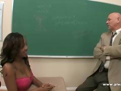 concupiscent old professor bonks black student