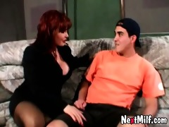 redhead horny wife bonks delivery chap
