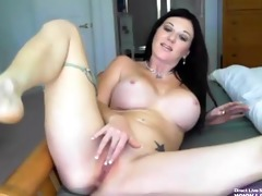 sexy busty raven milf gia loves her vibrator