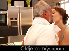 old dutch dude acquires sexy fuck with ballsy
