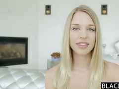 blacked perfect golden-haired girl squirts on