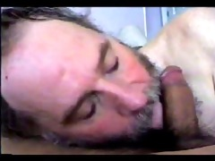 bearded daddy blows him