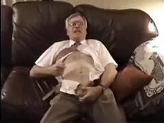 old daddy disrobe and jerk of