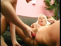 old and young lesbians enjoys the sex-toy