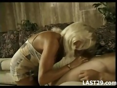mature wife pampers younger spouse