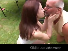 pervert old geezer fucks 22 young redhead