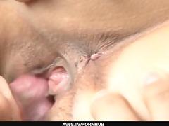 gorgeous dark brown babe mai hanano making out