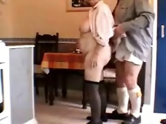 very sexy white haired granddad and wife