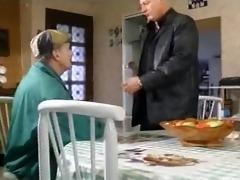 french woman takes 2 mature men