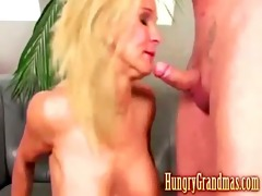 hot golden-haired is a young grandma