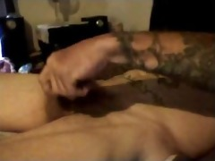 hottest bawdy talkin daddy discharges his load