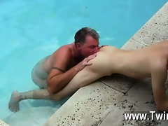 twink sex daddy brett obliges of course, after