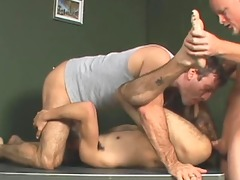 two old guys fuck a young twinks ass