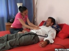 wife leaves and she is copulates her tied up