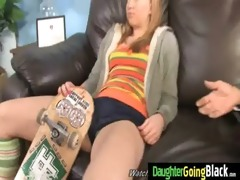 young daughter acquires pounded by large black