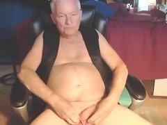 granddad jerk for the web camera