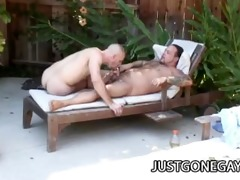 pool chap fucks his boss outdoors