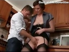 breasty mother i riding his son in the kitchen