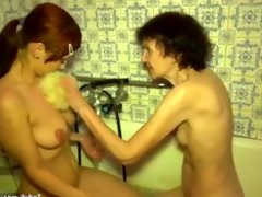 hot juvenile girl and old naughty granny