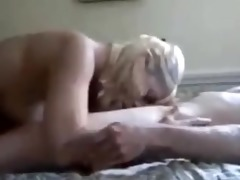 sexy blonde getting fucked by a younger boy!