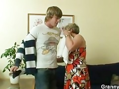 old housewife receives nailed by an juvenile guy