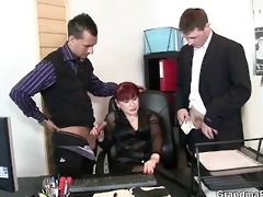 office bitch enjoys dicks