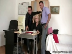 older swallows two cocks for work