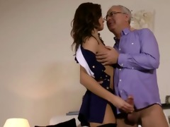 spruce brittish playgirl rides old man