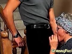 sexy vintage granny blows wang