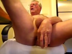 kinky oldman solo cock and booty fun