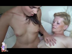 old oma and young girl lesbian dildo