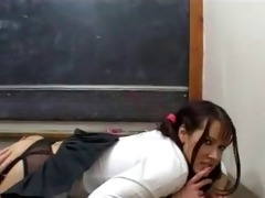 schoolgirl likes it is when the teacher licks her