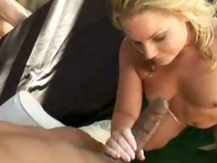 blond milf fucks at the poolside