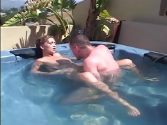 juvenile ally receives kinky in the hawt tub