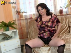 sexy older mother fucks her sons best ally