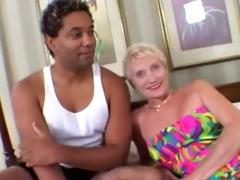 granny loves younger darksome penis