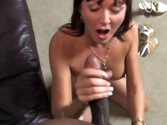 dirty white mom takes 2 large darksome cocks