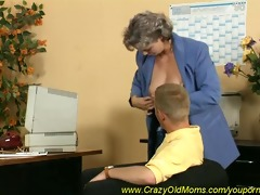 busty mom gets drilled in the office