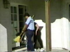 a scrub woman receives banged