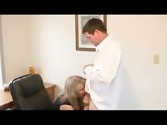 hot blonde in office sex