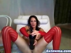 sexy american livecam milf dildoing herself with