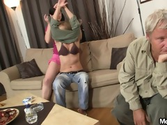 his mama toying whilst dad fucking his gf