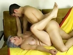 omapass young boy fuck very old granny with her gi