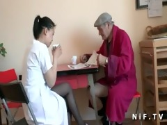 french old man papy voyeur doing a young asian